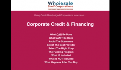 Corporate Credit & Financing
